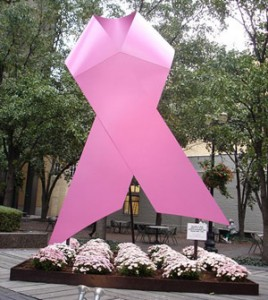 סמל המודעות למחלת סרטן השד. מקור: ויקיפדיה ברשיון cc2-by. צילום: Jason Meredith